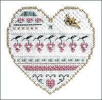 click here to view larger image of Valentine - Beyond Cross Stitch Level 3 (Hardanger and Cut Work)