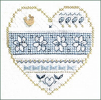 click here to view larger image of Blue And White Floral - Beyond Cross Stitch Level 3 (Hardanger and Cut Work)