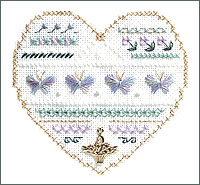 click here to view larger image of Butterflies - Beyond Cross Stitch Level 3 (Hardanger and Cut Work)
