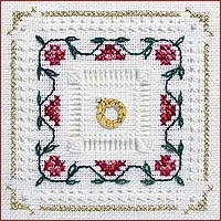 click here to view larger image of Tudor Rose Kit - Beyond Cross Stitch Level 4 (Hardanger and Cut Work)