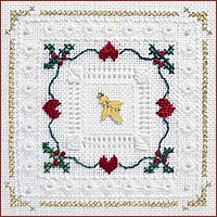 click here to view larger image of Holly Hearts Kit - Beyond Cross Stitch Level 4 (Hardanger and Cut Work)