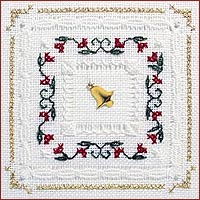 click here to view larger image of Christmas Floral Kit - Beyond Cross Stitch Level 4 (Hardanger and Cut Work)