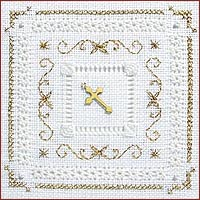 click here to view larger image of White And Gold Kit - Beyond Cross Stitch Level 4 (Hardanger and Cut Work)
