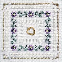 click here to view larger image of Pansy Chain Kit - Beyond Cross Stitch Level 4 (Hardanger and Cut Work)