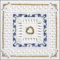 click here to view larger image of Periwinkle Kit - Beyond Cross Stitch Level 4 (Hardanger and Cut Work)