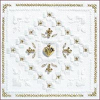 click here to view larger image of Christmas Gold Kit - Beyond Cross Stitch Level 5 (Hardanger and Cut Work)