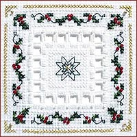 click here to view larger image of Holly Berries Kit - Beyond Cross Stitch Level 5 (Hardanger and Cut Work)