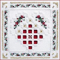 click here to view larger image of Christmas Heart Kit - Beyond Cross Stitch Level 5 (Hardanger and Cut Work)