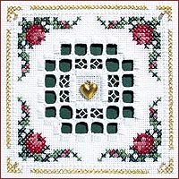 click here to view larger image of Hardanger Wreath Kit - Beyond Cross Stitch Level 5 (Hardanger and Cut Work)