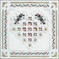 click here to view larger image of Floral Hearts Kit - Beyond Cross Stitch Level 5 (Hardanger and Cut Work)