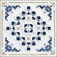 click here to view larger image of Delft Tile Kit - Beyond Cross Stitch Level 5 (Hardanger and Cut Work)