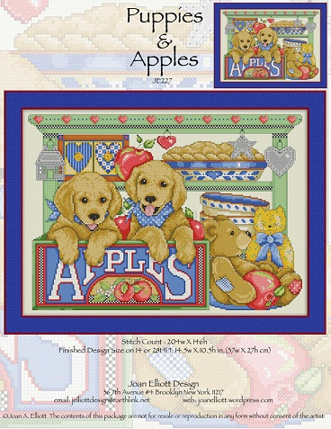 click here to view larger image of Puppies and Apples (chart)