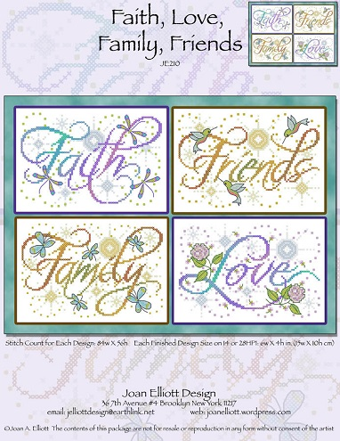 click here to view larger image of Faith Love Family Friends (chart)