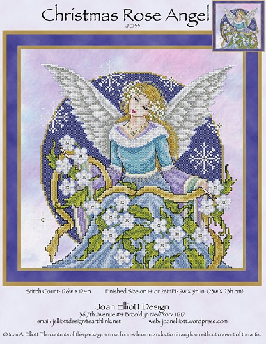 click here to view larger image of Christmas Rose Angel (chart)