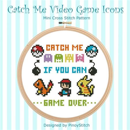 click here to view larger image of Catch Me -  Video Game Icons (chart)