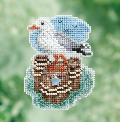click here to view larger image of Seagull - Spring Bouquet Seasonal Ornament (counted cross stitch kit)