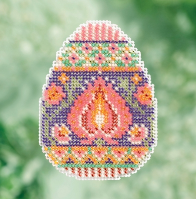 click here to view larger image of Lotus Egg - Spring Bouquet Seasonal Ornament (counted cross stitch kit)
