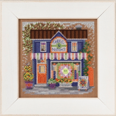 click here to view larger image of Fabric Shoppe - Main Street (counted cross stitch kit)