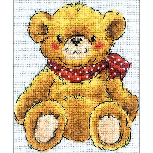 click here to view larger image of Teddy-Bear (counted cross stitch kit)