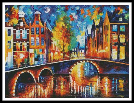 click here to view larger image of Bridges of Amsterdam, The - Large  (Leonid Afremov) (chart)