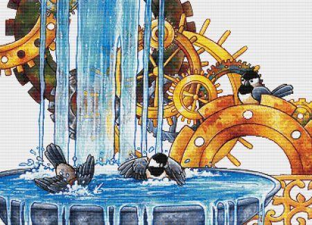 click here to view larger image of Clockwork Birdbath (chart)