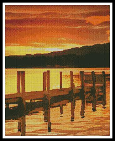 click here to view larger image of Sunset Dock (Crop) (chart)