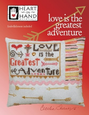 click here to view larger image of Love Is The Greatest Adventure (chart with charms/buttons)