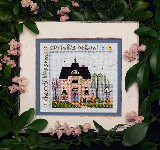 Cherry Blossom Cottage Sampler - click here for more details about chart