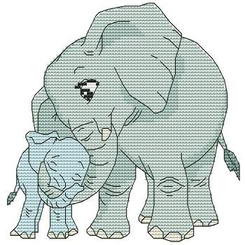 click here to view larger image of Momma N Me Elephant (chart)