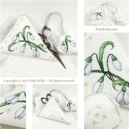 Snowdrop Scissor Case - click here for more details about chart