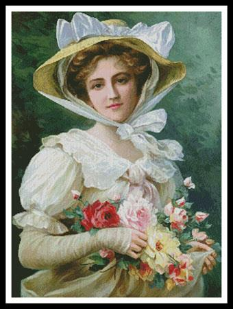 click here to view larger image of Elegant Lady With A Bouquet Of Flowers (chart)