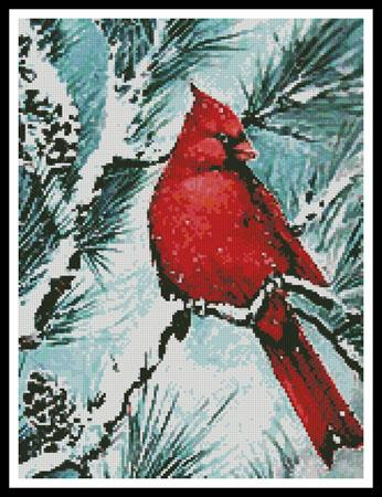click here to view larger image of Winters Glory Red Bird (Crop) (chart)
