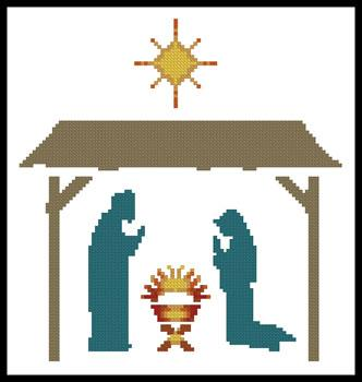 click here to view larger image of Small Nativity (chart)
