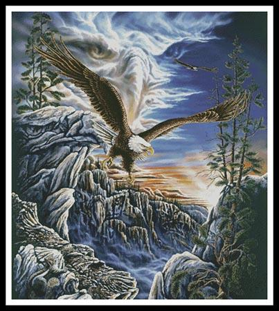 click here to view larger image of 10 Eagles (Cushion)  (Steven Michael Gardner) (chart)
