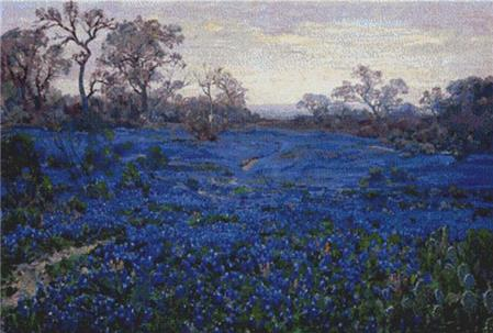 click here to view larger image of Bluebonnets At Twilight (chart)