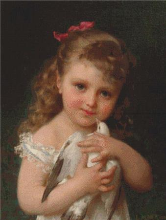 click here to view larger image of Girl Holding A Dove (chart)