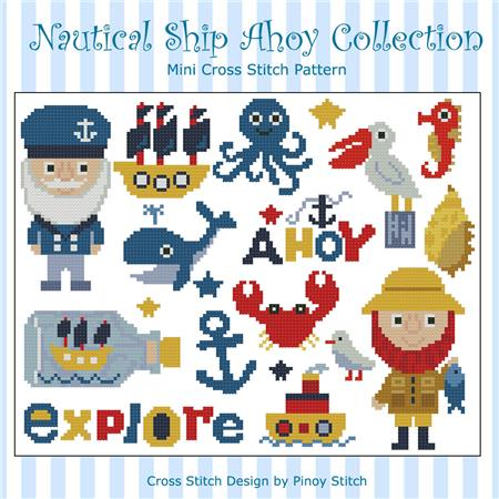 click here to view larger image of Nautical Ship Ahoy Collection (chart)