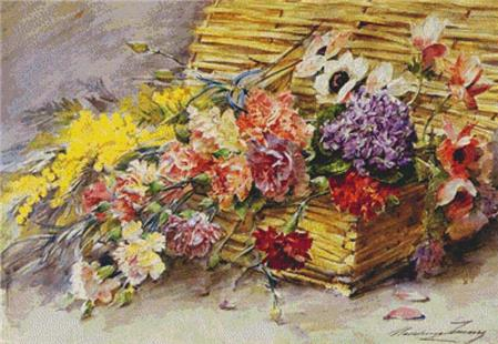 click here to view larger image of Panier de Fleurs Provencales (chart)