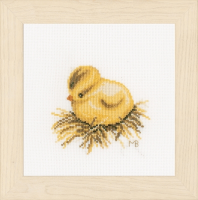 click here to view larger image of Little Chick - Sitting (counted cross stitch kit)