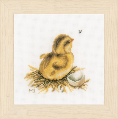 click here to view larger image of Little Chick - Chasing a Fly (counted cross stitch kit)