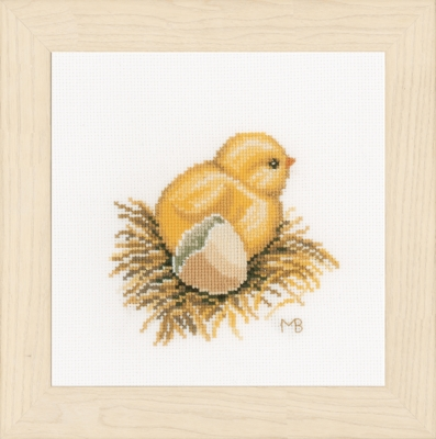 click here to view larger image of Little Chick - With Egg Shell (counted cross stitch kit)