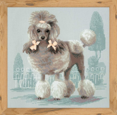 click here to view larger image of Poodle (counted cross stitch kit)