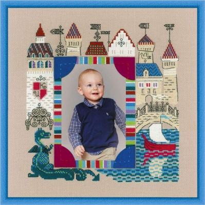 click here to view larger image of Photo Frame Knights Castle (counted cross stitch kit)