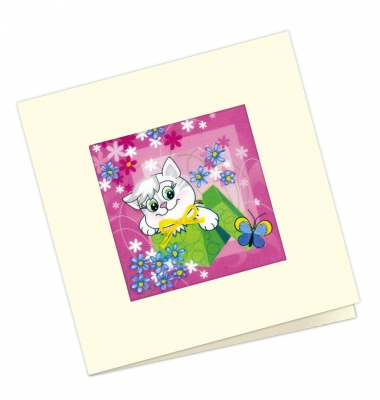click here to view larger image of Gift Card (stamped cross stitch kit)