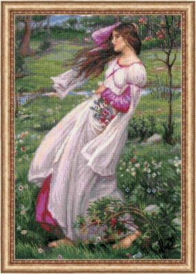 click here to view larger image of Wildflowers - After JW Waterhouses Painting (counted cross stitch kit)