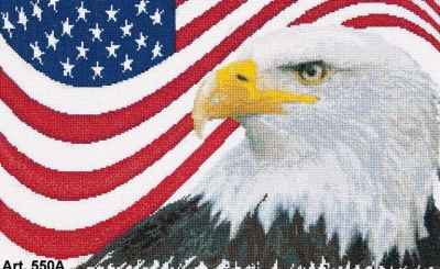 click here to view larger image of American Eagle (Aida kit) (counted cross stitch kit)