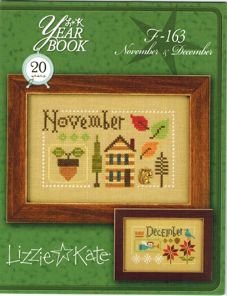 click here to view larger image of Yearbook Double Flip - November/December F163 (chart with charms/buttons)