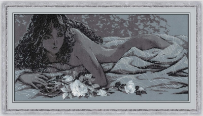 click here to view larger image of Silver Dream (stamped cross stitch kit)