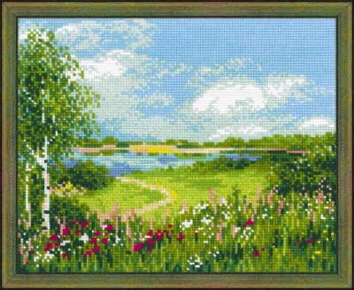 click here to view larger image of Path to The Lake (counted cross stitch kit)