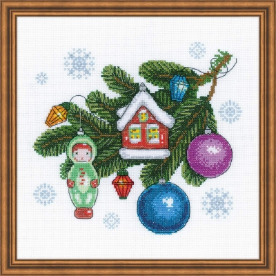 click here to view larger image of Beloved Decorations (counted cross stitch kit)